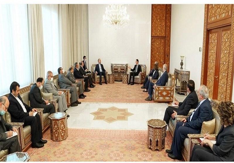 وزیر الخارجیة الایرانی یلتقی الرئیس السوری فی دمشق