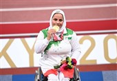 پارالمپیک 2020 توکیو| تجلیل از هاشمیه متقیان برای عشق به ایران، پرچم و سرود ملی