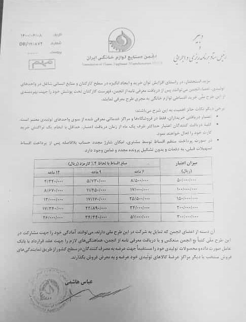 انجمن صنایع لوازم خانگی ایران , بازار لوازم خانگی ,