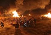 یک شهید و 15 زخمی در ششمین شب تظاهرات «خشم» در نوار غزه