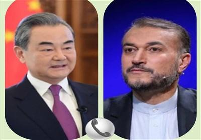 تأکید وزرای امور خارجه ایران و چین بر اهتمام دو کشور برای عملیاتی کردن توافق 25 ساله