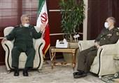 فرمانده نیروی زمینی سپاه با وزیر دفاع دیدار کرد