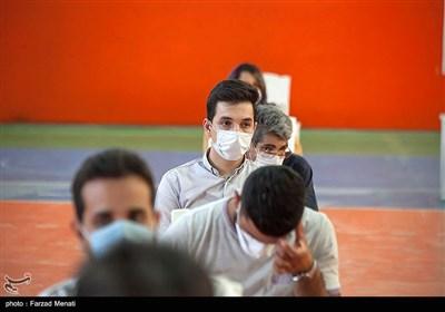 تزریق واکسن کرونا در طرح شهید سلیمانی - کرمانشاه