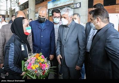 حمید سجادی وزیر ورزش و جوانان و ساره جوانمردی