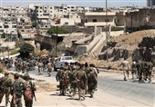 الجیش السوری یقوم بعملیات تمشیط وتفتیش فی بلدة الجیزة بریف درعا
