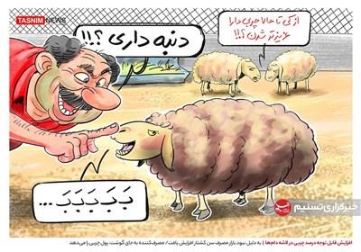 کاریکاتور/ مصرفکننده به جای گوشت، پول چربی را میدهد!