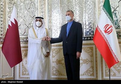 دیدار وزیرخارجه قطر با امیرعبداللهیان