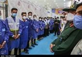 مرکز جامع واکسیناسیون نیروی زمینی سپاه در ورزشگاه تختی افتتاح شد