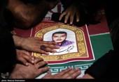 """پیکر شهید """" محمداینانلو"""" در آستان مقدس امامزاده طاهر (ع) کرج به خاک سپرده شد"""