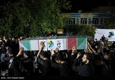 مراسم وداع با پیکر شهید مدافع حرم مرتضی کریمی - قزوین