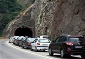 ترافیک بسیار سنگین در محور کرج - چالوس/مه گرفتگی شدید در مرزن آباد تا هزارچم