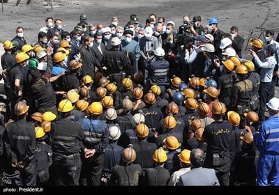بازدید آیت الله رئیسی از معدن زغال سنگ پروده طبس