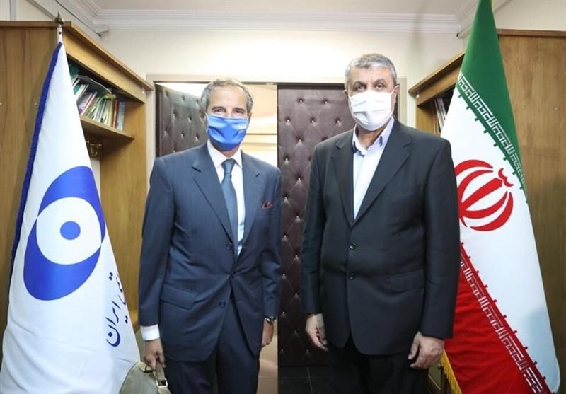 دیدار گروسی و اسلامی/ بیانیه مشترک آژانس و سازمان انرژی اتمی ایران