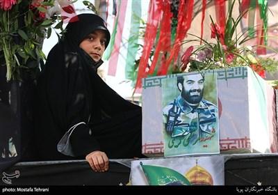 تشییع و تدفین پیکر مطهر شهید مرتضی کریمی