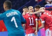 جام جهانی فوتسال  آغاز مسابقات با تحقیر مصر مقابل روسیه