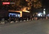 گزارش تسنیم از افغانستان|تجمع شبانه مقابل کابل بانک