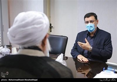 حضور امیرحسین قاضی زاده رئیس جدید بنیاد شهید وامور ایثارگران در ساختمان بنیاد شهید