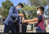 بستههای نوشتافزار به دانش آموزان محروم استان خراسان شمالی اهدا شد+ تصاویر