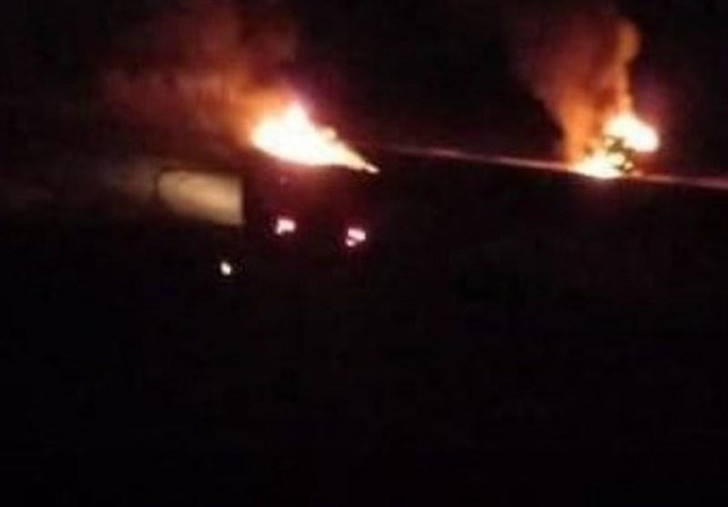 حمله هوایی به مرز عراق و سوریه/ 3خودروی حشد شعبی منهدم شد
