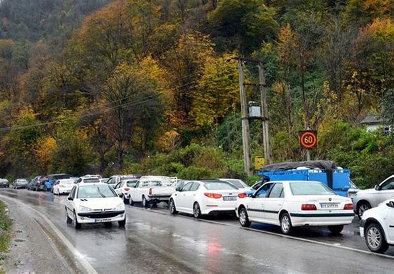 ترافیک جادههای استان مازندران مقطعی است