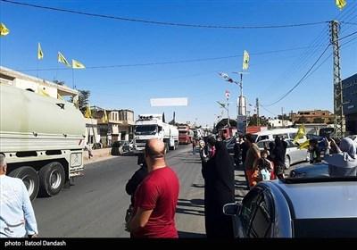 قوافل الصهاریج المحملة بالمازوت تدخل لبنان