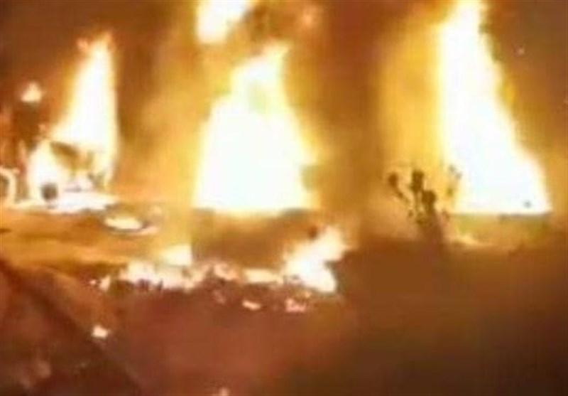 آتشسوزی مخازن سوخت یک پمپ بنزین در جنوب لبنان