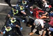 Police Use Pepper Spray at Protest in Australia