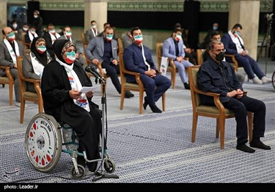 الامام الخامنئی یستقبل أبطال أولمبیاد وبارلمبیاد 2020