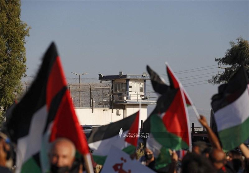 تظاهرات فلسطینیان ۱۹۴۸ در مقابل زندان جلبوع +عکس