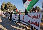تظاهرات فلسطینیان 1948 در مقابل زندان جلبوع + تصاویر