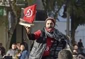 اولین تجمع مخالفان و موافقان «قیس سعید» در تونس