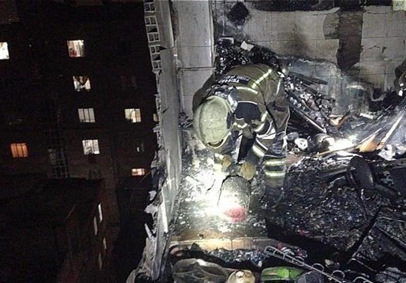 انفجار بامدادی در ساختمان 7 طبقه مسکونی + تصاویر