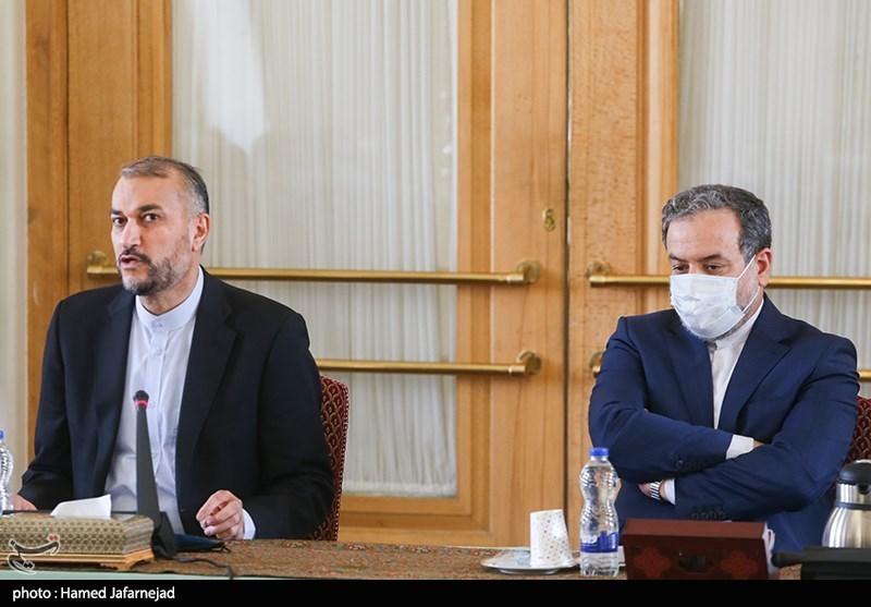 سخنرانی حسین امیرعبداللهیان وزیر امور خارجه در مراسم معارفه معاونین سیاسی،دیپلماسی اقتصادی و مالی وزارت خارجه