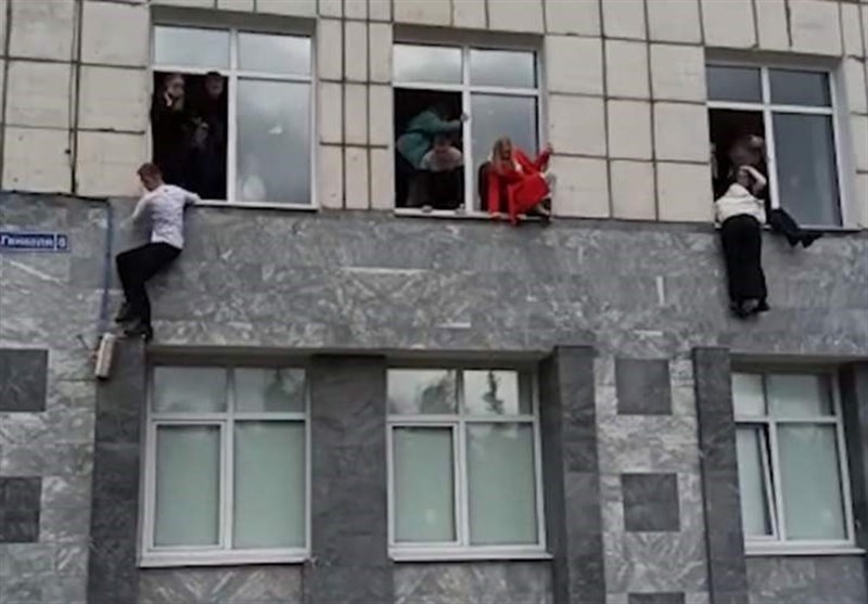 Shocking Footage Shows Students Jumping from Windows as 14 Killed or Injured at Uni in Russia