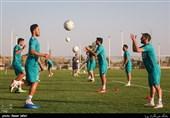 تمرین تیم فوتبال سپاهان در تهران