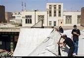 برپایی چادر عزای خانگی اباعبدالله(ع) در خانه تاریخی ضاد در قم + تصاویر