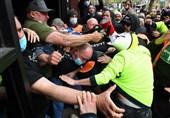 درگیری شدید کارگران استرالیایی و پلیس در ملبورن