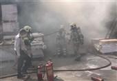 آتشسوزی گسترده در یک گاراژ بزرگ در خیابان قزوین + فیلم و تصاویر