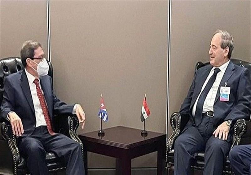 وزیر الخارجیة السوری یلتقی نظیره الکوبی فی نیویورک