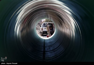 عملیات خط انتقال آب سد آزاد به سنندج