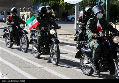 Bikers Hold Military Parades to Mark Sacred Defense Week in Iran