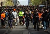 بازداشت 200 معترض در اعتراضات ملبورن/ ممنوعیت پرواز برای لو نرفتن تاکتیکهای پلیس