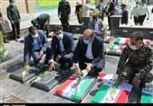 مزار شهدای دفاع مقدس در پیشوا گلباران شد + تصاویر