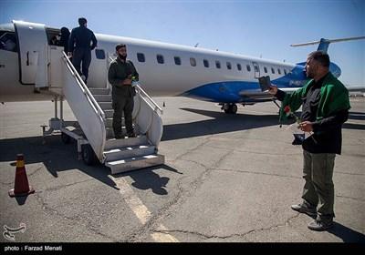 اعزام نخستین کاروان زوار کربلا از فرودگاه کرمانشاه