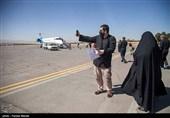 زائران اربعین از فرودگاه شهید اشرفی کرمانشاه به عراق اعزام شدند + فیلم