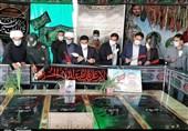 گلزار شهدای گمنام دفاع مقدس در پرند غبارروبی شد + تصاویر