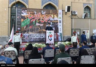 مراسم غبارروبی و گلباران گلزار شهدا با حضور رییس بنیاد شهید و امور ایثارگران - البرز