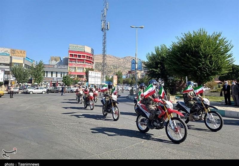 رژه خودرویی و موتوری نیروهای مسلح در کردستان به روایت تصویر