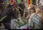 غبارروبی مزار شهدا در منطقه پردیسان قم به روایت تصویر