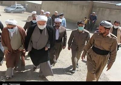 بازدید میدانی نماینده ولیفقیه در کردستان از روستای سرابقامیش/ مشکلات مردم را منعکس و پیگیری میکنم + تصاویر